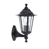Farol colonial d/pared norte negro 1XE27 LATERNA4