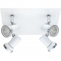 Spot 4 luces TAMARA 1, color blanco