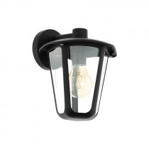 Farol colonial negro pared sur 1XE27 IP44