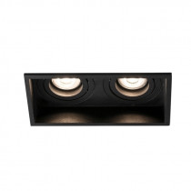 Downlight de metal cuadrado 2XGU10