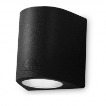 Aplique LED cilínd. negro IP55 1xGX53 inc MARTA160