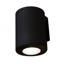 Aplique LED pared cilínd. negro IP55 GU10 FRANCA