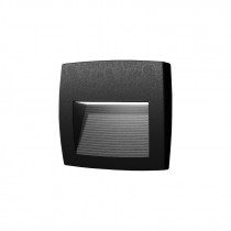 Aplique LED pared negro IP55 R7S 3000K LORENZA 150