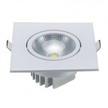 Embutido cuadrado de LED COB, 5W/neutro, Ø100mm
