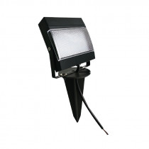 Proyector LED con pincho negro, 7,5W, frío