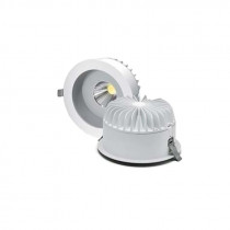 Downlight con sistema LED/40W. Ø224mm.