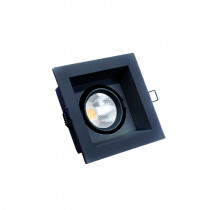 Downlight CUAD Prof. movil negro 10W 3000K